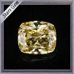 Jaune en pierre de zircone cubique de diamant synthétique pour les bagues