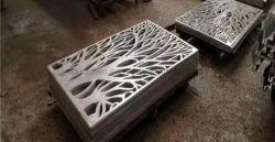 Лазерный резного дерева алюминия конструкция с маркировкой панели
