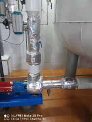 Гибкая огнеупорные тонкий чехол для термоизоляции клапан