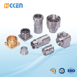 Linha girada peças fazendo à máquina do CNC do alumínio e do bronze da elevada precisão dentro da junção de tubulação