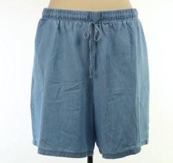 B9ln663 60% ALGODÃO 40% Lyocel Senhoras tecidos de denim Shorts Plus Size