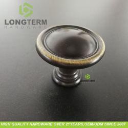 Peste Antique pequeno botão de zinco redonda para a gaveta do Gabinete Dresser