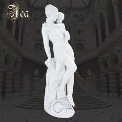 Feine Kunstfertigkeit-Marmor-Dame Woman Mother und Jungen-Kind-Sohn-Statue