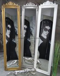 مرآة ملابس دائمة ذات إطار عالي مع أحجام مخصصة