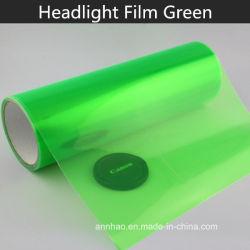 30cm x 9m de alta definição de cor verde brilhante filme de Tonalidade do farol de Vinil da luz automática