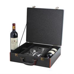 Display portátil vino Caja de regalo para el embalaje