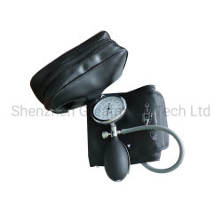 Polsino manuale adulto di pressione sanguigna, singolo polsino del tubo con il manometro e lampadina di inflazione