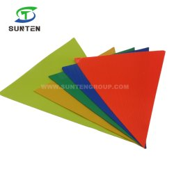 Le trafic de plein air de la rue/route Avertissement de sécurité anti-UV/PVC imperméable/polyester/nylon réfléchissant d'impression/fluorescentes carré de couleur/Triangle Bunting