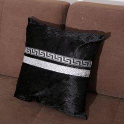 Draps en coton brodé oreiller de jeter le couvercle de coussin décoratif