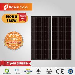 لوحة شمسية كاملة باللون الأسود ذات مبيعات ساخنة بقدرة 190 واط خاصة بشركة Solar النظام الكهروضوئي