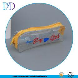 Junta de calor branco de plástico de PVC transparente do fecho de costura espelho cosmético Mala para acessórios de viagem