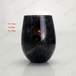Уникальное Высококачественное стекло при свечах держатель с мраморными эффект