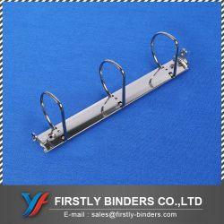 Un buen diseño de una carpeta de Archivos4 3 Hoyos Nickle Bootster Metal chapado de mecanismo de anillo