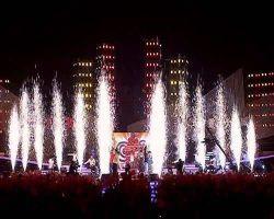 Het binnen Decoratieve Vuurwerk van de Fontein van het Gordijn van het Water van het Stadium Grafische Digitale