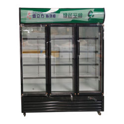 На заводе прямой продажи тройного стекла двери морозильной камеры дисплея охладитель пить вино молоко холодным хранения холодильник с вентилятором системы охлаждения двигателя