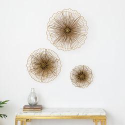 Настенные украшения Металлообработка украшения предметов домашнего обихода и золотого цветов Lotus Notes