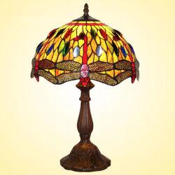 """12"""" 16"""" Tiffany cadeau de lampe de table nuits lumière/Lampe en vitrail de style de libellule"""