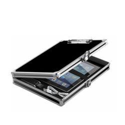 Ящик для хранения в серебристом алюминиевом корпусе ноутбука/ iPad/ Документ