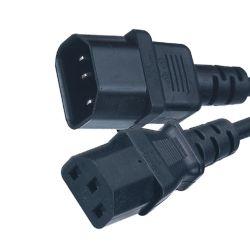 Unión 10A 250V de C13 y C14 Cable de extensión de alimentación conector