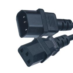 유럽 10A 250V C13와 C14 연결관 힘 연장 전기줄