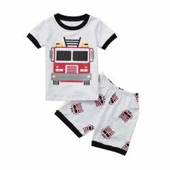De T-shirt van het Af:drukken van het Beeldverhaal van de Pyjama's van de Dinosaurus van de Jongens van de Kleding van de Baby van de Jonge geitjes van de peuter bedekt Geplaatste de Uitrustingen van Borrels