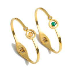 أزياء كريستال الكرة مجوهرات من الفولاذ المقاوم للصدأ بانجل