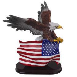 Ee.Uu. La estatua del águila de resina de gran tamaño personalizado para la decoración de oficina