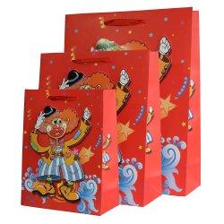 Sacco di carta impaccante stampato abitudine poco costosa al minuto di acquisto del regalo