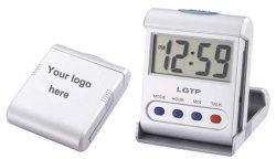 Пластиковый разговор будильник с переверните крышку для путешественников
