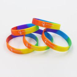 2019 Nova baixa quantidade mínima de cor personalizada logotipo personalizado bracelete de Silicone