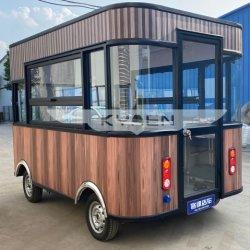 Móvil eléctrico pequeño snack fast food La cocina móvil camiones tráiler a la venta