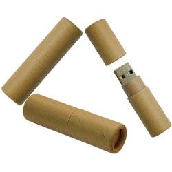 Regalo promocional de productos digitales de cartón reciclado unidad Flash USB