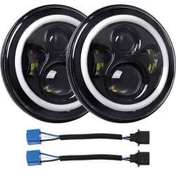 J5 Factory barato LED de 7 polegadas de Alta dos Faróis Baixos Anjo halo de olhos com lâmpadas LED DRL