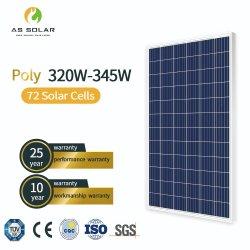 320W 345W Painel Solar Positivo de alta eficiência de um nível de PV 345watt Preço Painel Solar de polietileno
