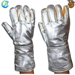 알루미늄 손 뒤 반대로 높은 온도 모피 가죽 장갑