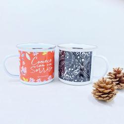 صنع وفقا لطلب الزّبون قابل للاستعمال تكرارا طباعة مينا فولاذ قهوة خمر فنجان لأنّ عيد ميلاد المسيح تذكار