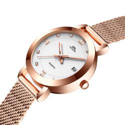 Fabricante de moda personalizada Regalo mujer última fantasía diamantes reloj reloj de dama
