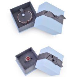 شعار مخصص عقد عقد حلقة براسيليت مجوهرات التغليف Velvet Cufflink صندوق الهدايا