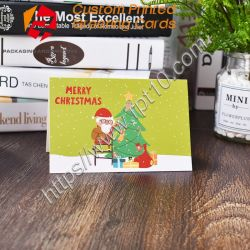 Umschlag-/Set-Karikatur-Weihnachtsgruß-Karten-kleine Weihnachtsmann-Rotwild-Elch-frohe Weihnacht-Postkarte-neues Jahr-Geschenk-Karte