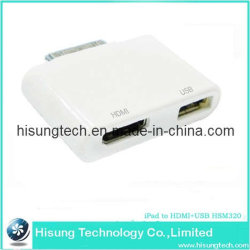 iPad إلى HDMI +USB HSM320