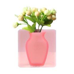Suporte reutilizável para pendurar na parede criativo autoadesivo em silicone Magic Case Frigorífico Vaso para vidro de parede