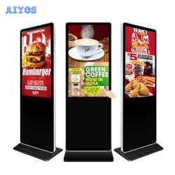 Aiyos 32 43 49 55 65 Zoll frei stehendes Multimedia-LCD Digital Signage-Anzeige Für Werbung