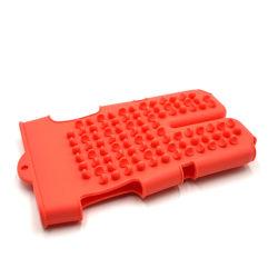 Masaje de silicona suave Limpiador de guante masajeador corporal Brusher cuerpo Guantes de prensa