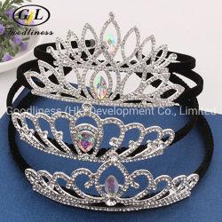 Детские′ S Rhinestone Crown Haircomb Кристал Корона Корона Корона Аксессуары для наволок