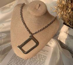 Горячий американский стиль преувеличены буквой D титана Стальная цепочка моды декоративные длинной цепи