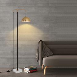 현대적인 메탈 장식 현대적인 골드 LED 조정식 디자인 플로어 램프 거실용