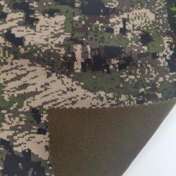 Stof van Microfleece van de Polyester van het Af:drukken van de camouflage 50d de Geborstelde Tricot Gelamineerde