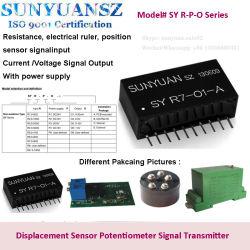 El potenciómetro, Regla eléctrico, el desplazamiento de la señal del sensor de entrada a la corriente, tensión de transformador del sensor de señal