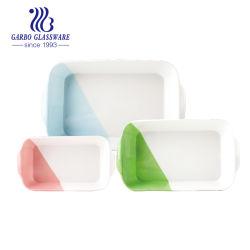 Venda por grosso de venda quente de cor única em Pyrex Cerâmica Térmica Prato de cozedura Bakeware Pan tz3-Tc6504091421-SY