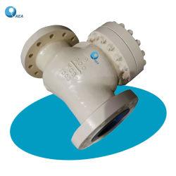 BS1868 API 6D vollständige Öffnung-Kohlenstoff-Edelstahl verriegeltes Deckel Stellite Ordnungs-Platten-auswechselbarer Sitzdoppelplatten-Flansch-oder Kolben-Schweißungs-nicht Rückkehr-Schwingen-Rückschlagventil